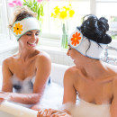 Paige and Natalie in the Tub Headbands